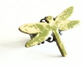 Wooden Dragonfly Ring - RETRO DRAGONFLY