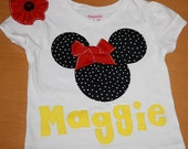 RESERVEDFORLACEY:Mickey or Minnie Mouse Personalized Shirt