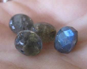 Labradorite Faceted Roundels- BLUE SHINE 7X9mm