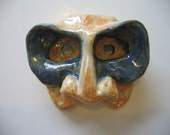 """Blue and Caramel """"Mask-In-A-Mask"""" Wall Mask"""