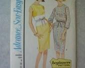 Uncut Vintage 1960s Dress Pattern - Advance 3447 - 36 Bust