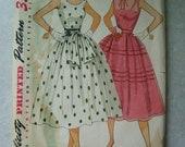 Vintage 1950's Women's Dress Pattern - Simplicity 4342 - 34 Bust