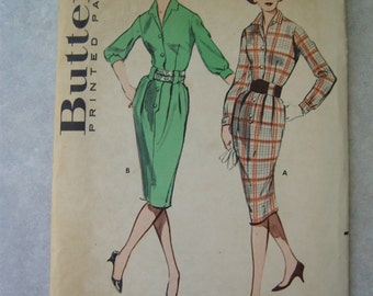 Vintage 1960s Dress Pattern - Butterick 9027 - 33 Bust