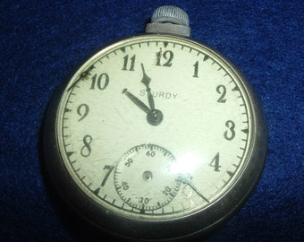 Old Sturdy Dollar Pocket Watch  For Parts