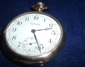 Vintage Waltham P.S.Bartlett Model 16 Size 17Jewels GF Case Pocket Watch