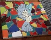 MOSAIC BIRD-Mouse mats - Mosaic Bird Design by Romola Derwent