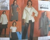 Vogue Pattern 14 to plus sizes - Vogue Wardrobe Pattern Design includes Coat, skirt, Dress-HALF PRICE SALE