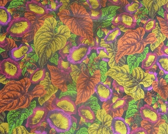 FINAL SALE - Rowan Cotton Leaf Design - For Patchwork or Sewing Projects