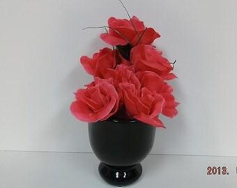 Black Grave Vase