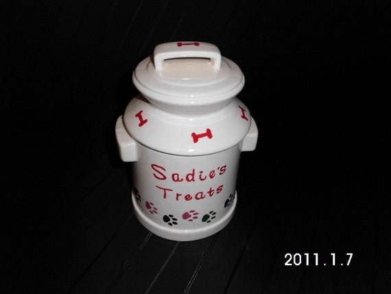 Personalized Pet Canister   Made to Order