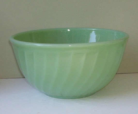 Fire King Jadite Jadeite Swirl Mixing Bowl 8 Inches