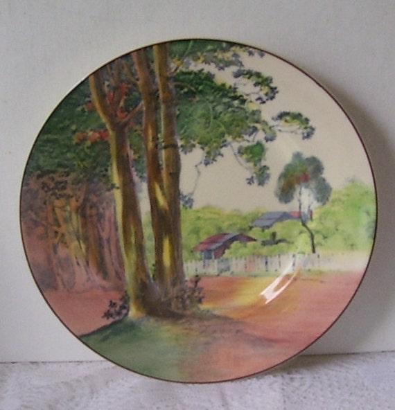 Royal Doulton Seriesware Gumtree Lorne Victorian Australia Cabinet Plate