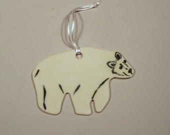 Polar Bear - Handpainted Porcelain Ornament