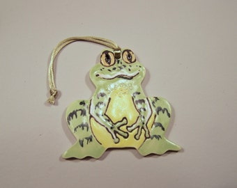 Froggie Comes a Courting - Handpainted Porcelain Ornament