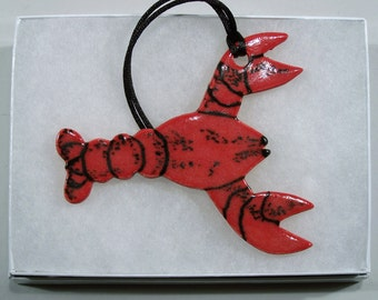 Porcelain Lobster Ornament
