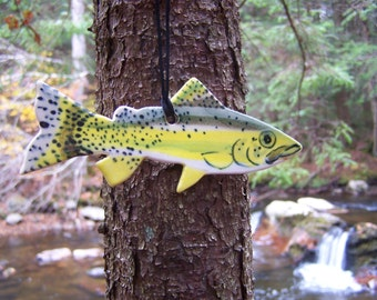 Yellowfin Cutthroat Trout Ornament - Handpainted Porcelain