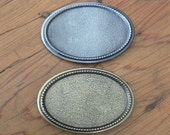 DIY 24 Buckle Blank Base Wholesale Silver and Brass