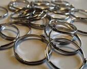 Craft Remnants - Supply Closet Destash Sale -100 - 18mm Adjustable Silver RIngs