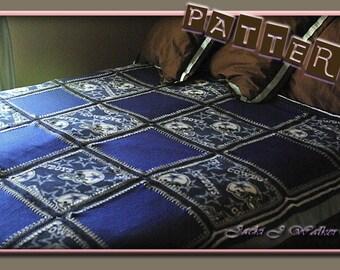 Crochet Pattern Fleece Squares- PDF pattern