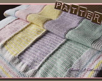 Technique/pattern for Mary Maxim Peaceful Pastels Baby Afghan