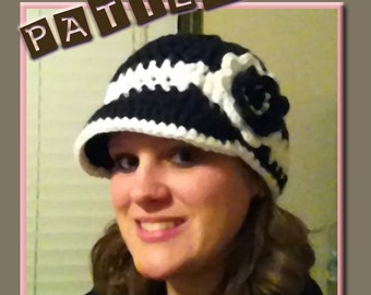 The Adult Brimmed Beanie Crochet PDF Pattern by Jaybug Designs