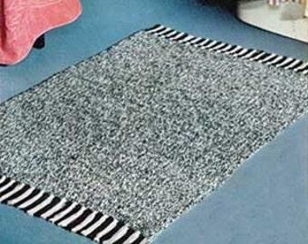 Vintage Crochet Rug Pack -  3 Patterns in 1 PDF