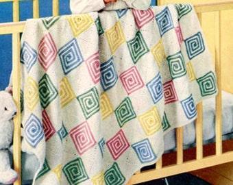 Vintage Crochet Pattern Afghan eBook PDF - Eleven Patterns