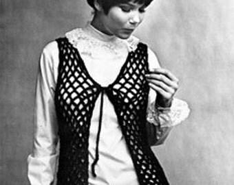 Vintage Crochet Vest Pattern - Pack of 2 Patterns