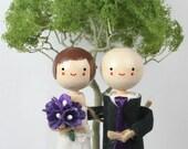 Wedding Cake Topper - CUSTOM ORDER - Spring Tree Backdrop