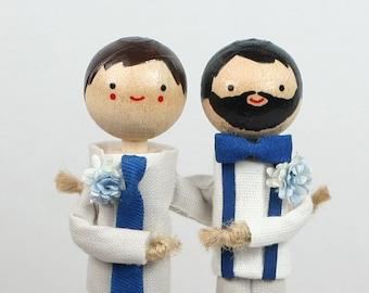 Custom Wedding Cake Topper with 2x CUSTOM CLOTHING
