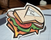 Back to School. Sandwich shape lunchbox mini note card set of 12l