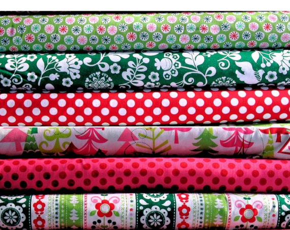 MM Christmas Fabric Cheaper Buy the Bundle 6 Fat Quarters