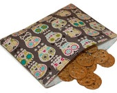 Reusable Snack Bag - Bonehead Sugar Skulls
