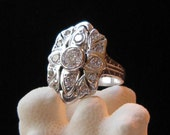 Her Engagement Ring in Solid Sterling Silver ( Eclipse inspired -  Twilight saga unlicensed)