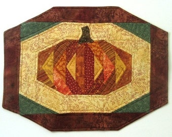 Pumpkin Supplement AND Easy Octa-Strip Placemats PATTERN - A Quilting and Sewing Project