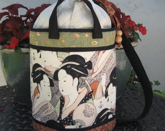 Go-To-Market Bucket Bag PATTERN - Beach Bag, Knitting Bag, Large Project Bag, Market Bag