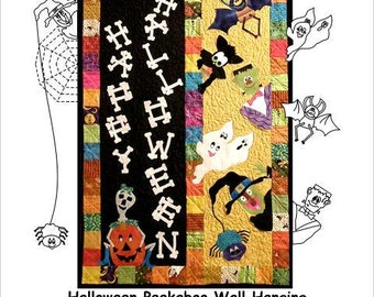 Halloween Peekaboo PATTERN - A Fusible Applique, Quilting, and Sewing Project - Wall Hanging