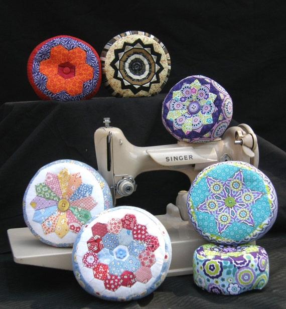 Pincushion Palooza II PATTERN - Machine pieced and English paper pieced pincushions - 10 styles in 2 sizes