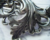 Acanthus Leaves of Silver and Light Hairclip
