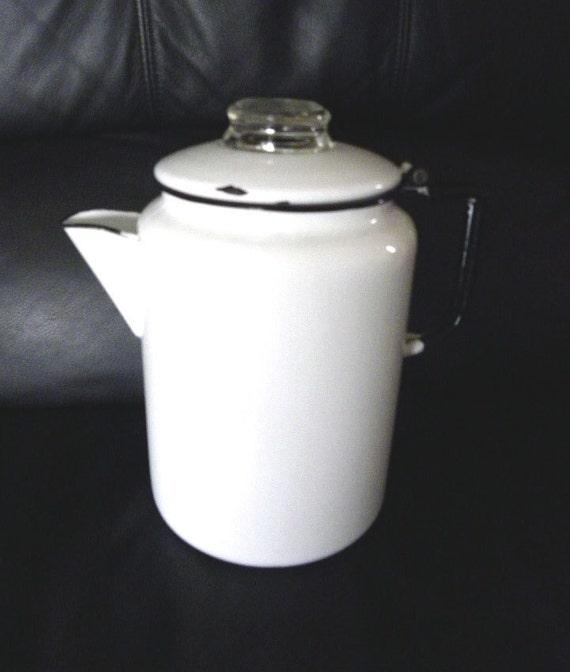 Vintage Stovetop Percolator Coffee Pot