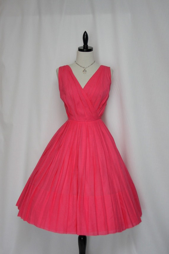 1950's Vintage Designer Honeysuckle Full Skirt Spring Party Frock