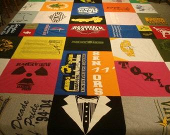CUSTOM T SHIRT QUILT T-Shirt Dorm Blanket
