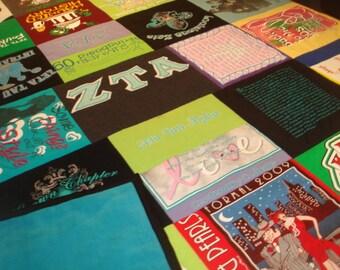 QUEEN T-SHIRT QUILT Custom T-Shirt Blanket