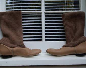 Vintage Slouchy Sweater Boots or Chic Slippers 7