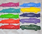 Recycled Crayons Race Cars Shaped / Total of 20.  Boy or Girl Kids Unique Party Favors, Crayons.