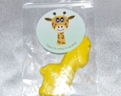 Giraffe Party Favors, Recycled Crayons And Stickers /20 Giraffe Stickers and 20 Giraffe Crayons