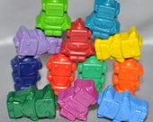 Recycled Crayons Robot Shaped Total of 12.  Boy or Girl Kids Unique Party Favors, Crayons.