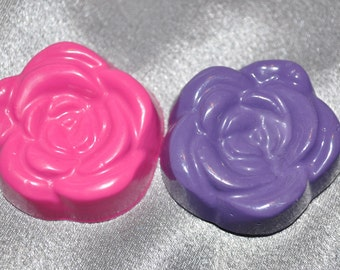 Recycled Crayons Rose Shaped - Total of 12.  Boy or Girl Kids Unique Party Favors, Crayons.