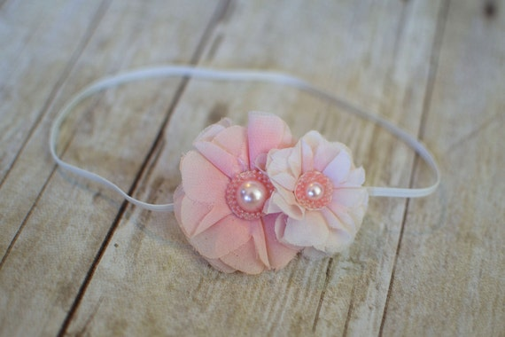 Baby headband - flower headband - infant headband - newborn headband - adult headband - pink flower