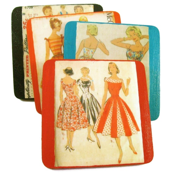 Vintage Inspired Wooden Coasters